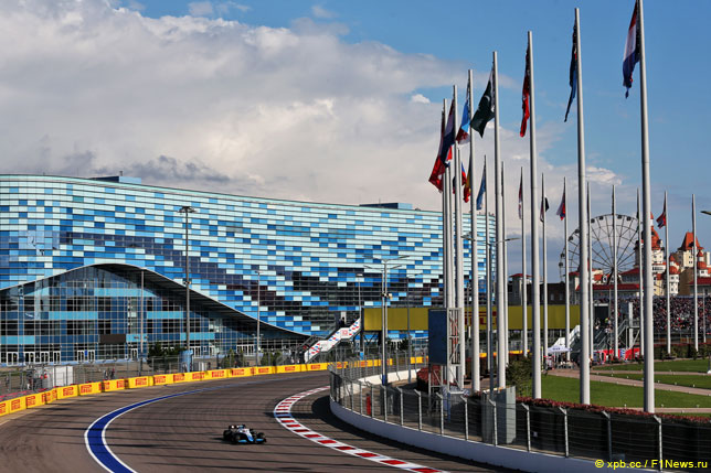Джордж Расселл на Гран При России, 2019 год