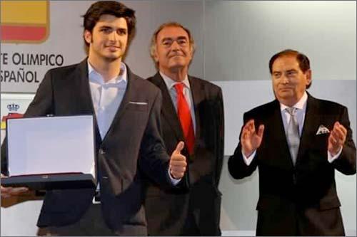 Карлос Сайнс на гала-церемонии в Олимпийском комитете Испании