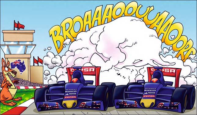 Эту иллюстрацию выбрали в Toro Rosso. Посмотрим, как у них получится...