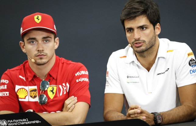 Шарль Леклер и Карлос Сайнс - будущие напарники в Ferrari