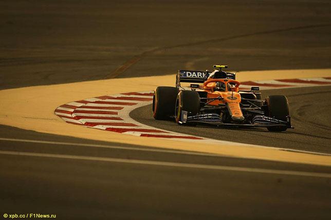Ладно Норрис на трассе Гран При Бахрейна
