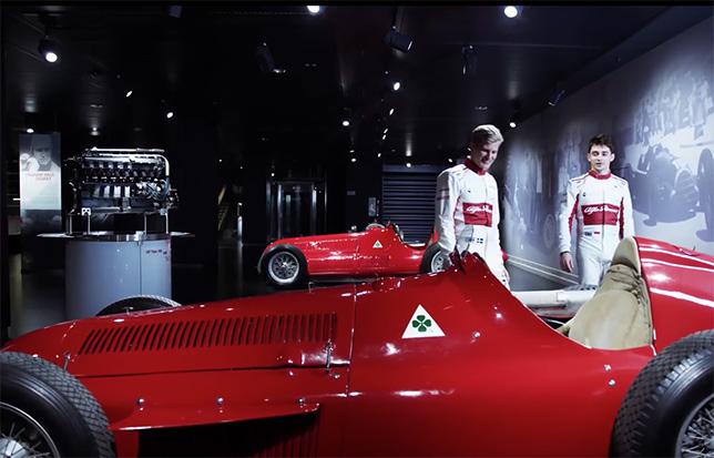 Гонщики Sauber в музее Alfa Romeo