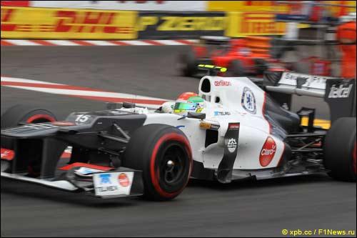 Серхио Перес на Гран При Монако