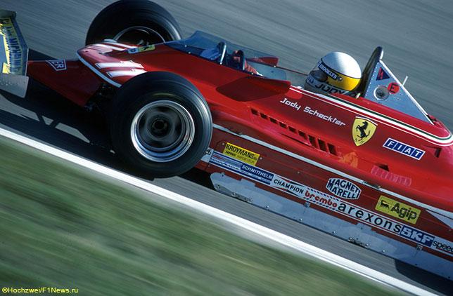 Джоди Шектер за рулём Ferrari 312 T4