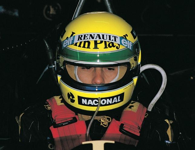 34年前塞纳赢得了他的第一个大奖赛