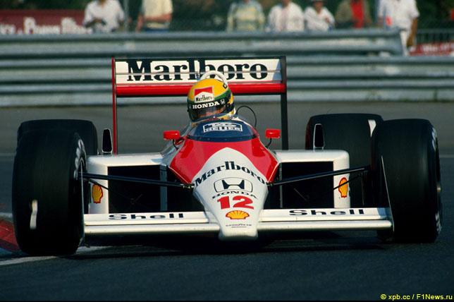 Айртон Сенна за рулём McLaren, 1992 год