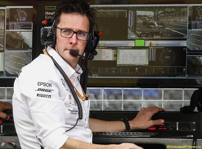 Эндрю Шовлин, главный гоночный инженер Mercedes