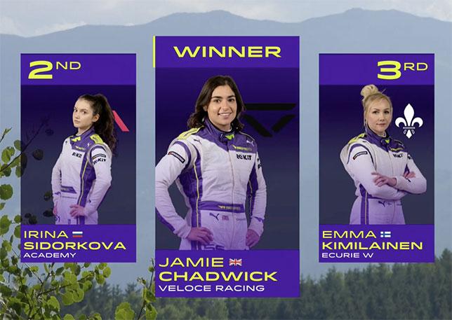 W Series: Чэдвик победила, Ирина Сидоркова – вторая!