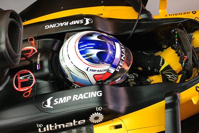 Сергей Сироткин за рулём Renault RS17