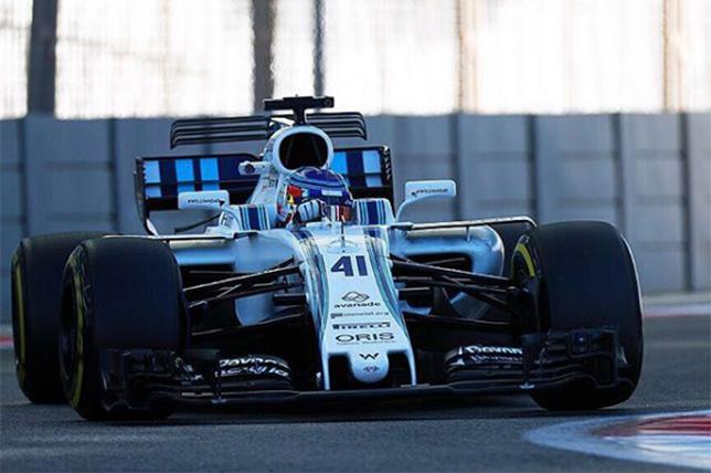 Сергей Сироткин за рулём Williams на тестах в Абу-Даби