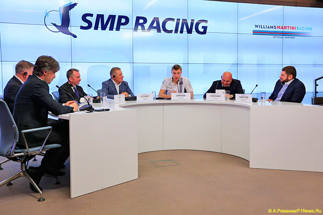 Пресс-конференция SMP Racing и Williams в Москве