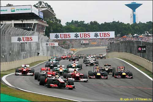 Старт Гран При Бразилии