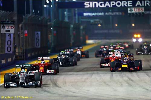 Старт Гран При Сингапура 2014