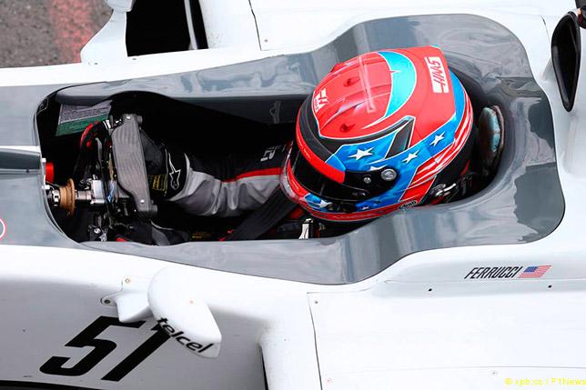 Сантино Феруччи в машине Haas F1