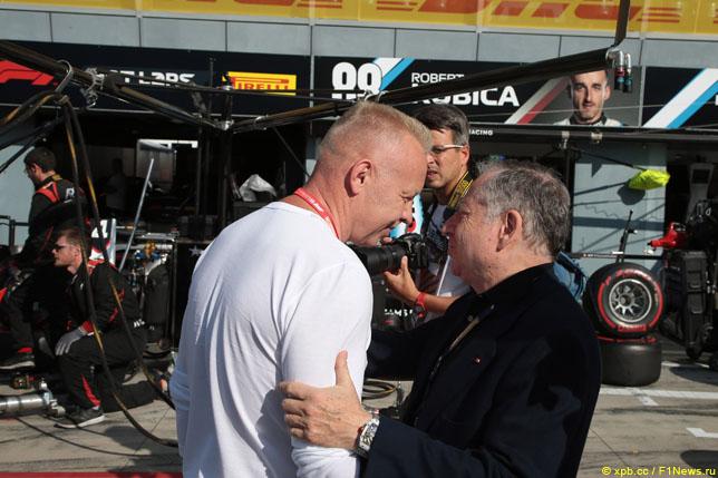Дмитрий Мазепин и президент FIA Жан Тодт, 2019 год