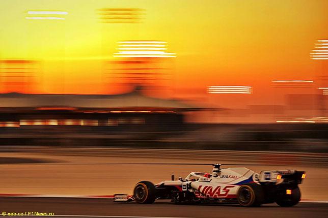 Никита Мазепин на тестах в Бахрейне