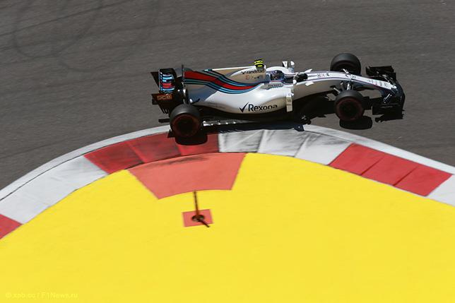 Лэнс Стролл за рулём Williams на трассе Гран При России