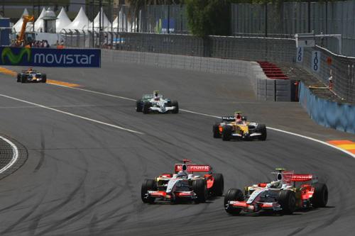 Гран При Европы. Джанкарло Физикелла и Адриан Сутил