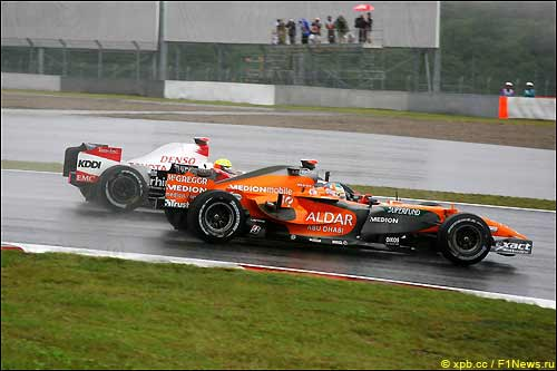 Адриан Сутил на трассе Фудзи, Гран При Японии'2007