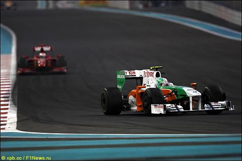 Витантонио Лиуцци на трассе Гран При Абу-Даби
