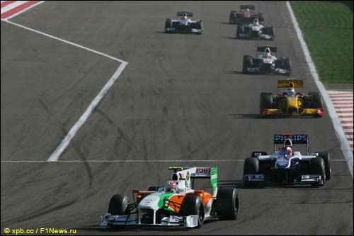Витантонио Лиуцци на трассе Гран При Бахрейна