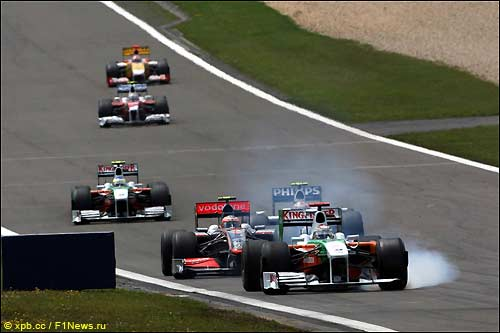 Адриан Сутил на Нюрбургринге, Гран При Германии 2009 года