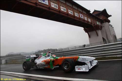 Адриан Сутил на Гран При Кореи