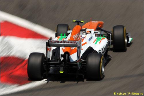 Адриан Сутил за рулем Force India