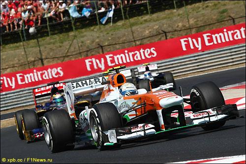 Адриан Сутил на трассе Гран При Венгрии