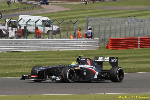 Эстебан Гутьеррес на Гран при Великобритании в 2013 году