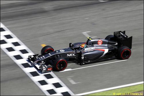 Эстебан Гутьеррес в квалификации Гран При Германии