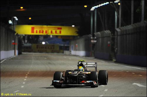 Эстебан Гутьеррес на прошлогоднем Гран При Сингапура