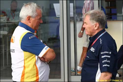 Пэт Симондс и Патрик Хед, глава инженерного департамента Williams F1, 2008 г.