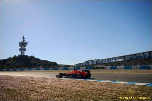 Marussia на тестах в Хересе