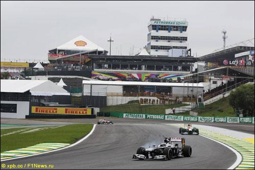 Валттери Боттас на прошлогоднем Гран При Бразилии