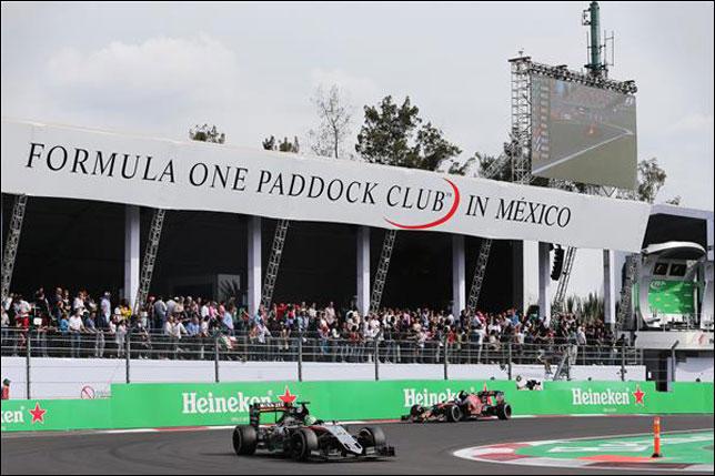 Трибуна паддок-клуба на Гран При Мексики