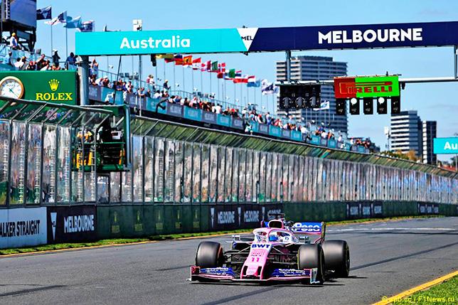 Серхио Перес на трассе в Австралии