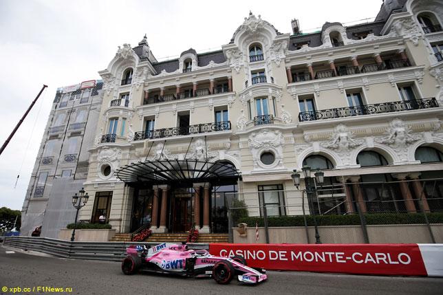 Серхио Перес на прошлогоднем Гран При Монако