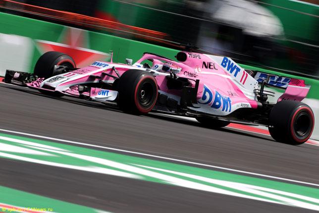 Серхио Перес на прошлогоднем Гран При Мексики