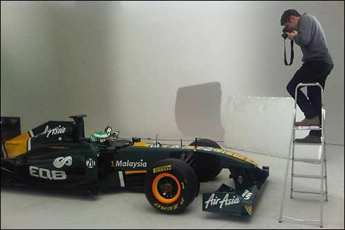 Съёмка Team Lotus