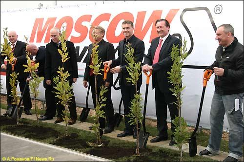 Церемония закладни первого камня Moscow Raceway