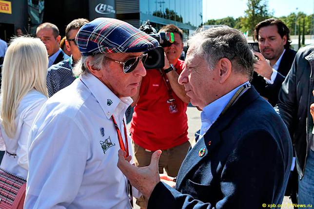 Джеки Стюарт и Жан Тодт на стартовой решётке Гран При Италии