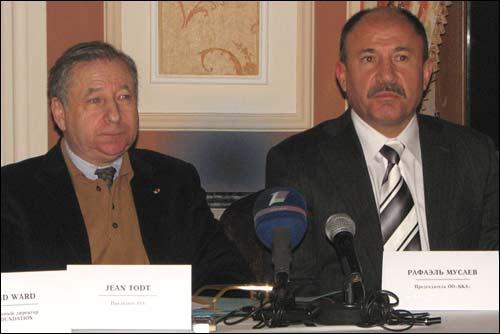 Жан Тодт и Рафаэль Мусаев на пресс-конференции