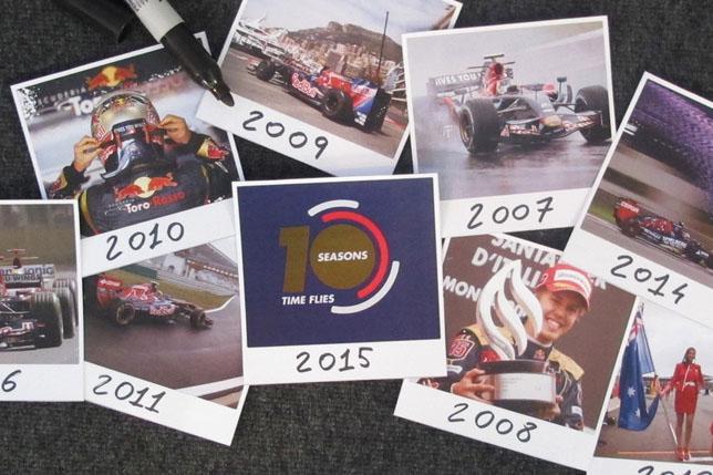Логотип Toro Rosso, посвященный 10-летию команды