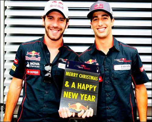Рождественская открытка Scuderia Toro Rosso
