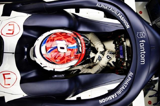 Логотип Fantom на машине Пьера Гасли (фото пресс-службы команды)