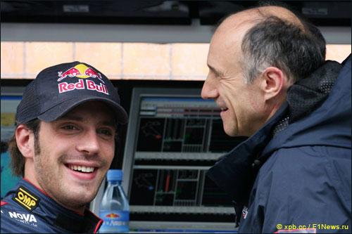 Руководитель Scuderia Toro Rosso Франц Тост с Жаном-Эриком Вернем