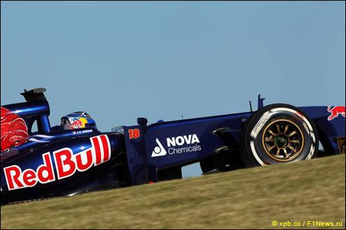 Логотип NOVA Chemicals на машине Toro Rosso