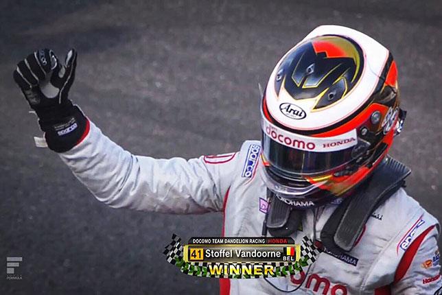 Стоффель Вандорн - победитель гонки Super Formula в Окаяме