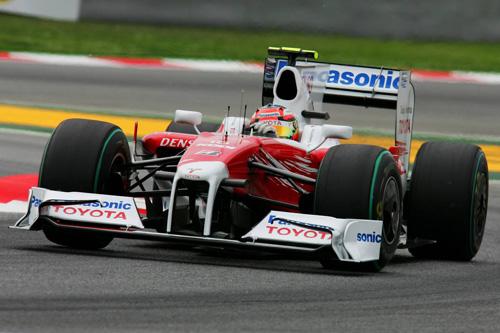 Гран При Испании. Квалификация. Тимо Глок за рулем Toyota TF109